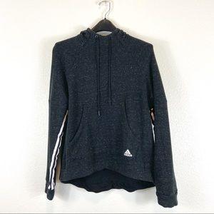 Adidas Heather Black High Low Hem Hoodie L